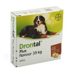 BAYER DRONTAL tabletki na odrobaczenie dla psa 35 kg 2szt.