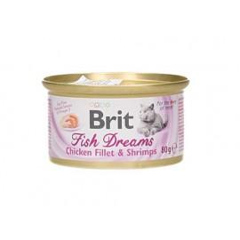 BRIT KOT PUSZKA 80G FISH DREAMS CHICKEN FILLET & SHRIMPS 101-111366