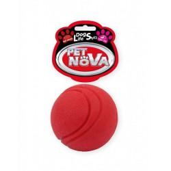 Pet Nova Piłka gumowa Ball o aromacie wołowiny czerwona 5cm