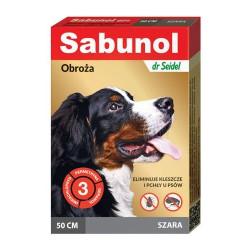 Sabunol obroża przeciw pchłom i kleszczom szara 50 cm