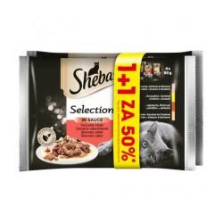 SHEBA Selection Soczyste Smaki W Sosie - mokra karma dla kota - saszetka 4x85g + 4x85g -50%